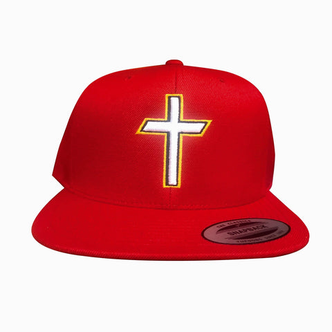 "Red ""Cross"" Premium SnapBack"