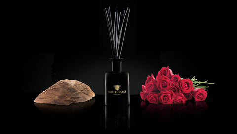 Rose & agarwood - Reed diffuser
