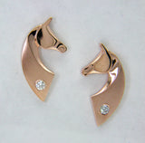 The Classic© Earrings in 14k Yellow, White, or Rose Gold with Diamonds