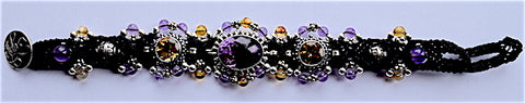 Isha Elafi 3 Piece Black With Amethyst Citrine Stone