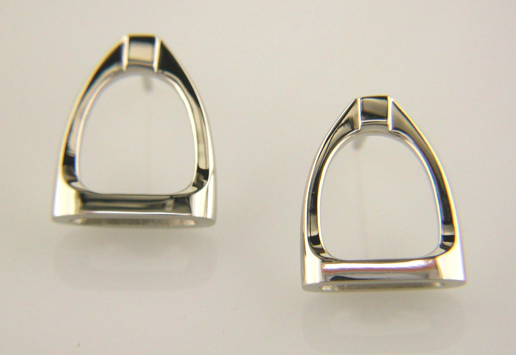 Stirrup Earrings in 14k Gold