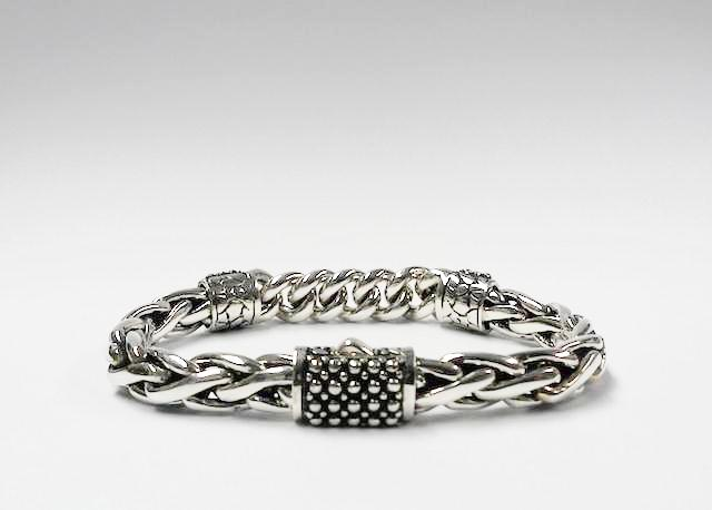House of Bali by George Thomas Sterling Silver Braided Bracelet