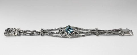 House of Bali by George Thomas Sterling Silver With Blue Topaz Stone
