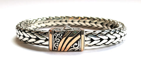 House of Bali by George Thomas Sterling Silver with Rose Gold Bracelet