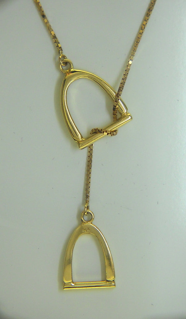 "The ""Annmarie"" Lariat in 14k Gold"