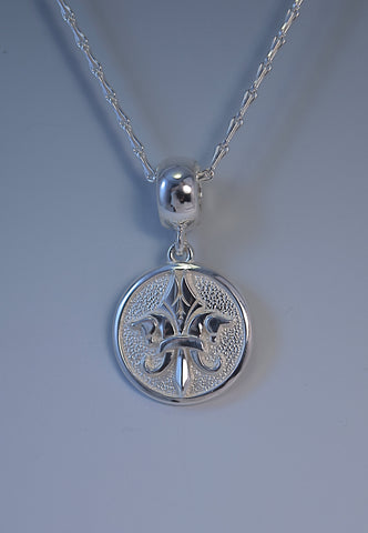 Medium Pegasus Fleur De Lis© Sterling Silver Medallion