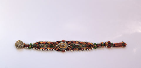Isha Elafi Genie Bracelet in Orange and Green with Citrine Stone