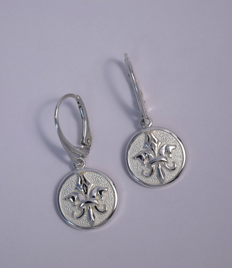 Small Pegasus Fleur De Lis©  Leverback Earrings