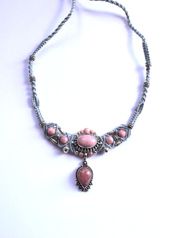 Isha Elafi New Gio Necklace in Blue with Rhodon