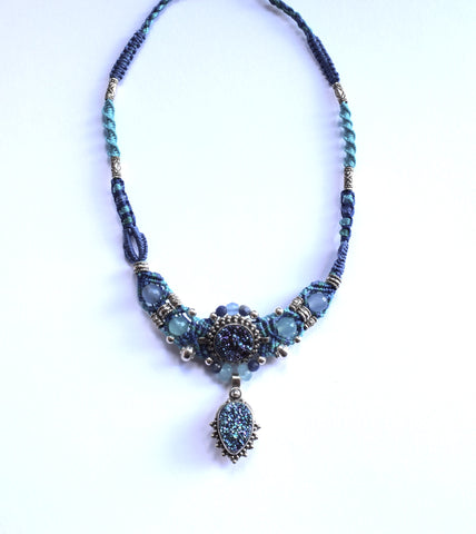 Isha Elafi New Gio in Blue with a Blue Druzy