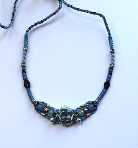 Isha Elafi Gio Necklace with Blue Topaz