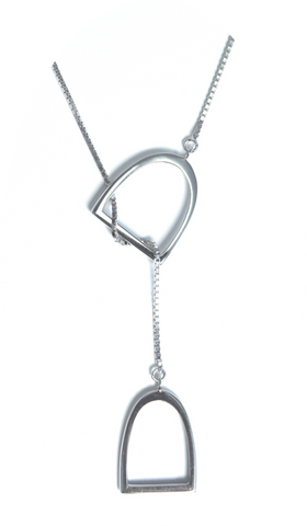 "The ""Annmarie""Lariat in Stainless Steel."