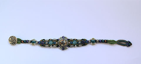 Isha Elafi Gio Bracelet in Purple, Blue & Green with Citrine