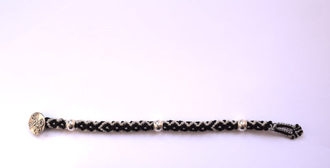 Isha Elafi Rope Bracelet in Black & White