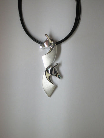 The Classic© Double Pendant in Sterling Silver