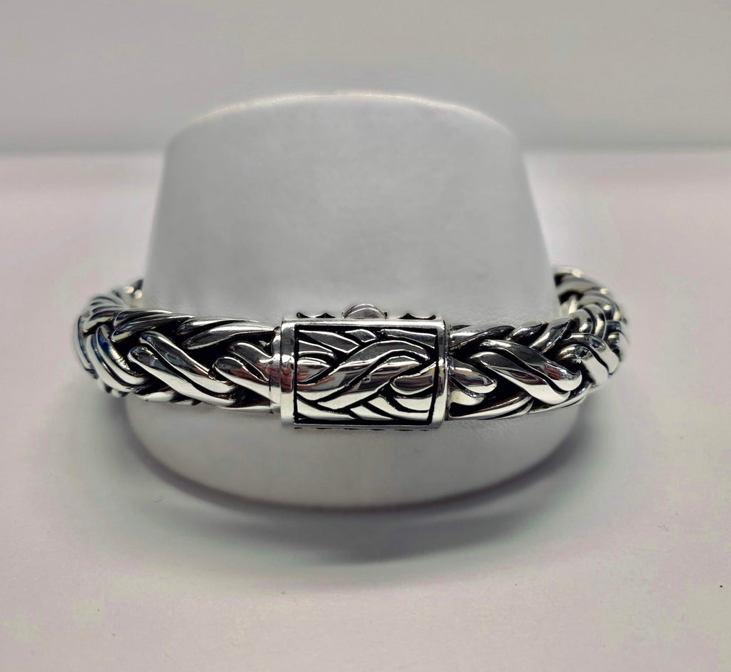 Hose of Bali by George Thomas Sterling Silver Braided Bracelet