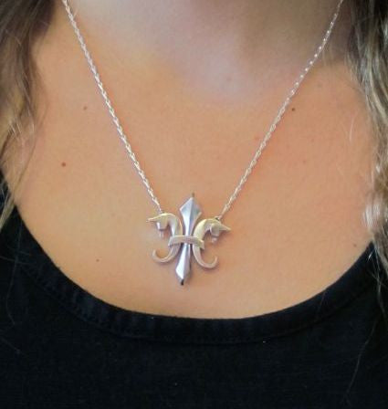 The Fleur De Lis© in sterling silver