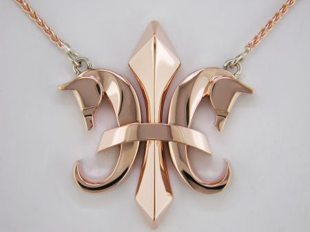 The Fleur de Lis© in 14K Rose Gold