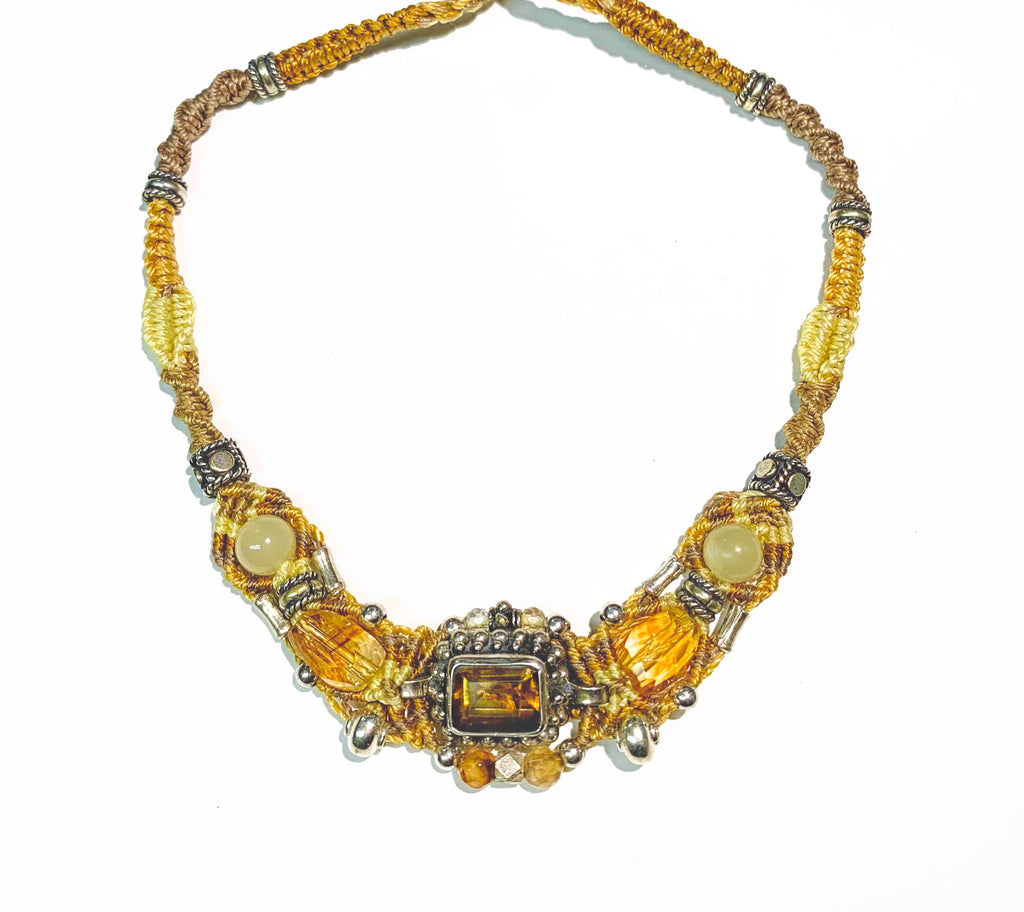 Isha Elafi Gio Necklace Gold With Citrine