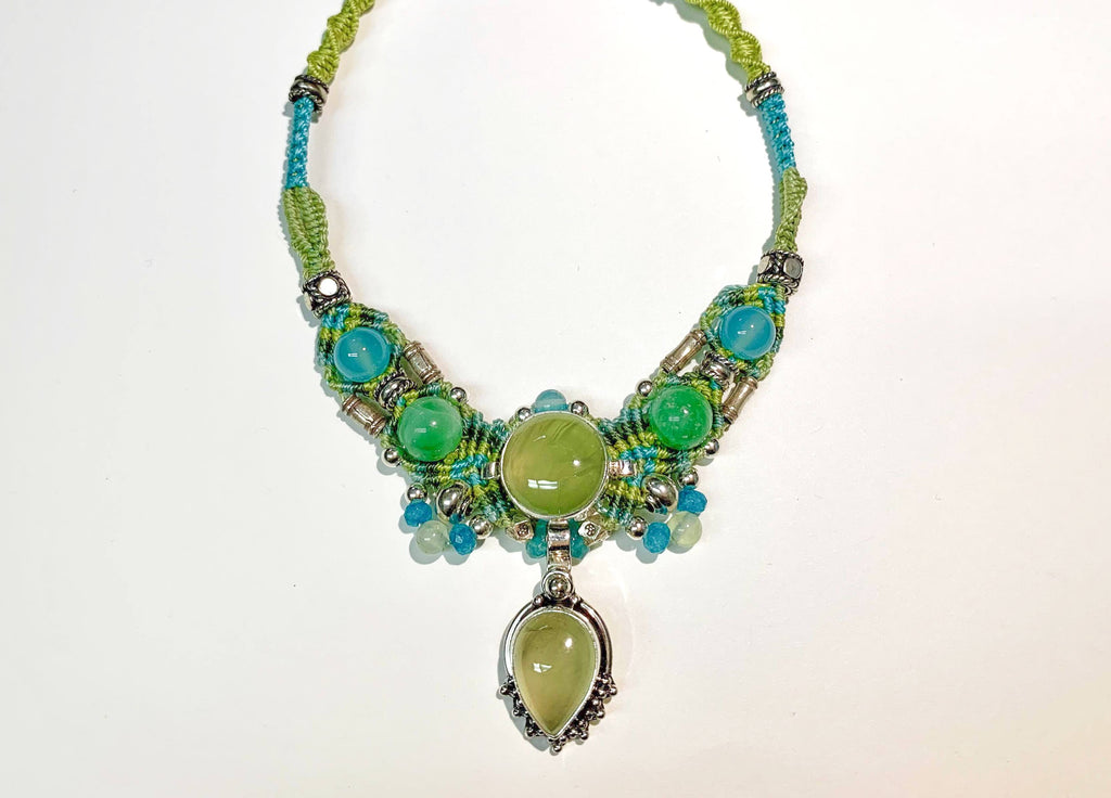 Isha Elafi New Gio Necklace Blue,Green With a Peridot
