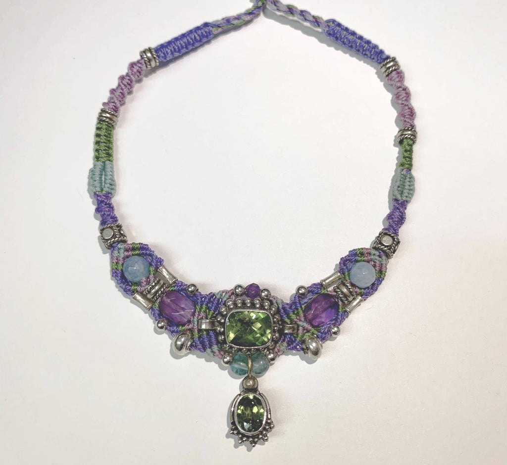Isha Elafi New Gio Purple,Green,Blue With Peridot and Amethyst
