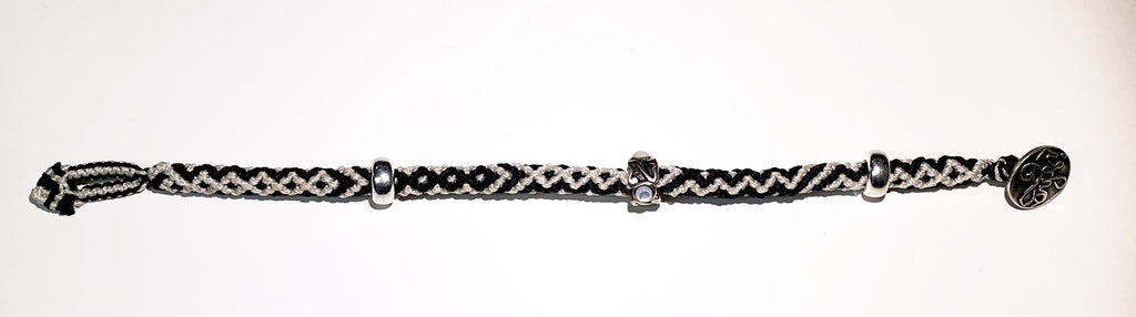 Isha Elafi Rope Bracelet Black And White