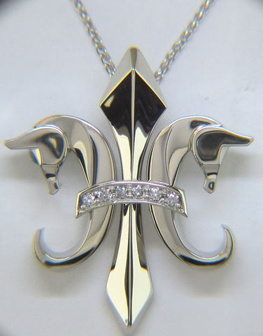 The Fleur de Lis© in 14K White Gold and diamonds