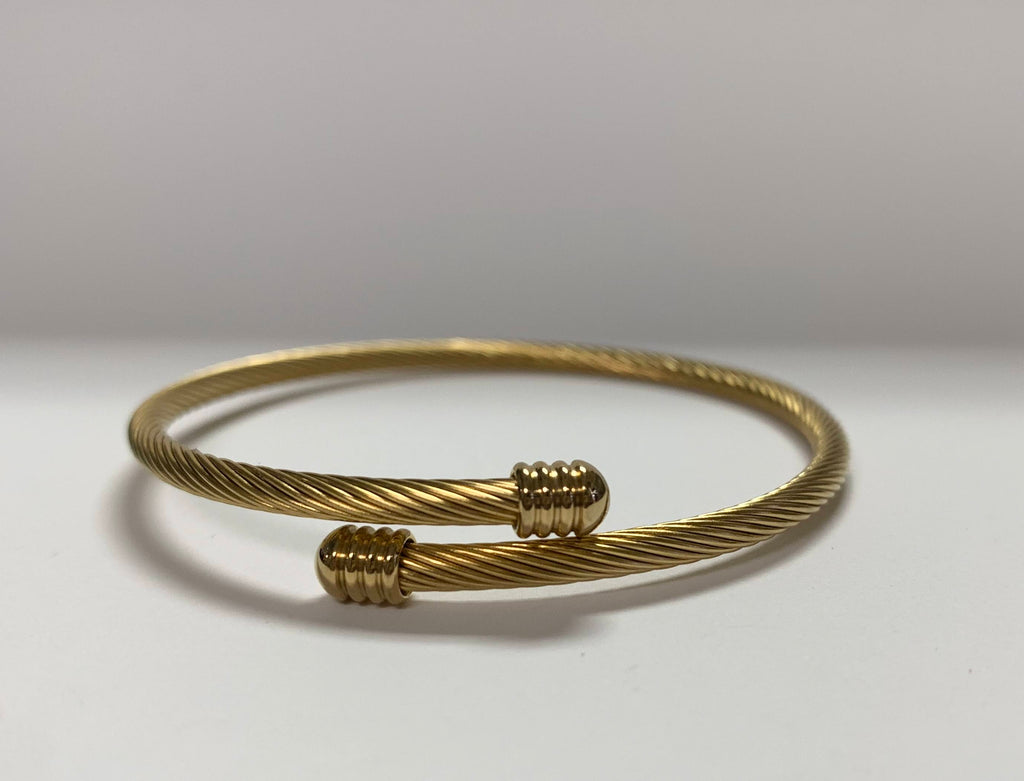 Stainless Steel Bracelets in Either Yellow Gold, Rose Gold, or Silver