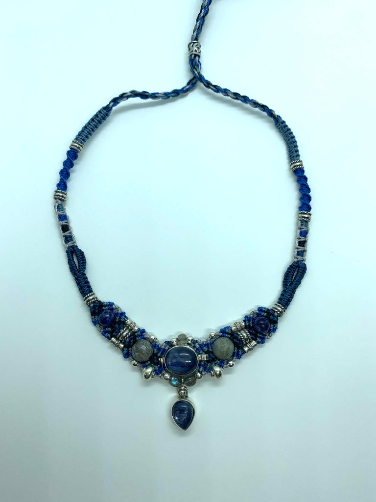 Isha Elafi New Gio Necklace Blue White With Kyanite
