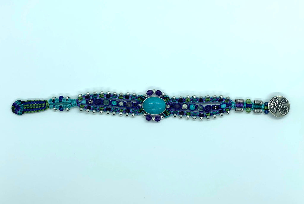 Isha Elafi Genie Bracelet Blue Purple Green With Turquoise