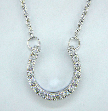 Sterling Silver & Cubic Zirconia Horseshoe Necklace