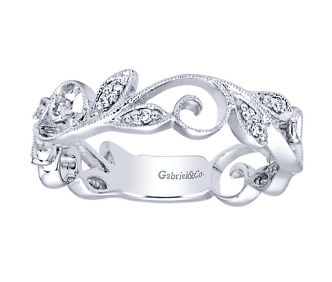 Gabriel & Co. Diamond Princess Ring