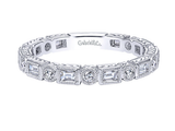 Gabriel & Co. Antique Style Baguette & Round Diamond Ring