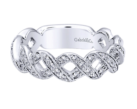Gabriel & Co. Diamond X Ring