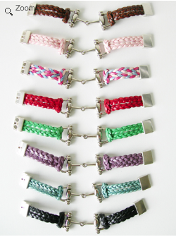 Lilo Collections DeSoto Leather Braided Bit Bracelet