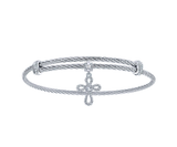 Gabriel & Co. Cross Charm Bangle