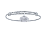 Gabriel & Co. Faith Charm Bangle