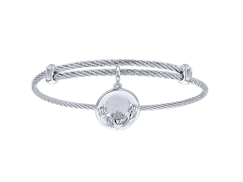 Gabriel & Co. Claddagh Charm Bangle