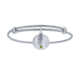Gabriel & Co. Peridot Charm Bangle