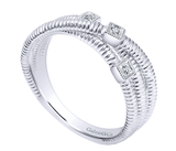 Gabriel & Co. Sterling Silver & Diamond Ring