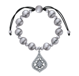 Gabriel & Co. Sterling Silver Bead Bracelet with White Sapphires