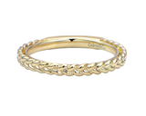 Gabriel & Co. Gold Braided Stackable Ring