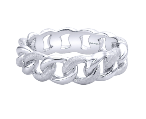 Gabriel & Co. Sterling Silver Chain Stackable Ring