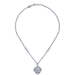 Gabriel & Co. Sterling Silver Fashion Necklace with Diamonds