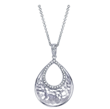 Gabriel & Co. Sterling Silver Teardrop Necklace with Diamonds