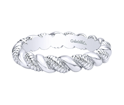 Gabriel & Co. Sterling Silver Rope Stackable Ring