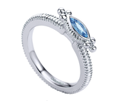 Gabriel & Co. Sterling Silver Ring with Swiss Blue Topaz
