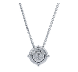Gabriel & Co. Sterling Silver Rope Fashion Necklace with Diamonds