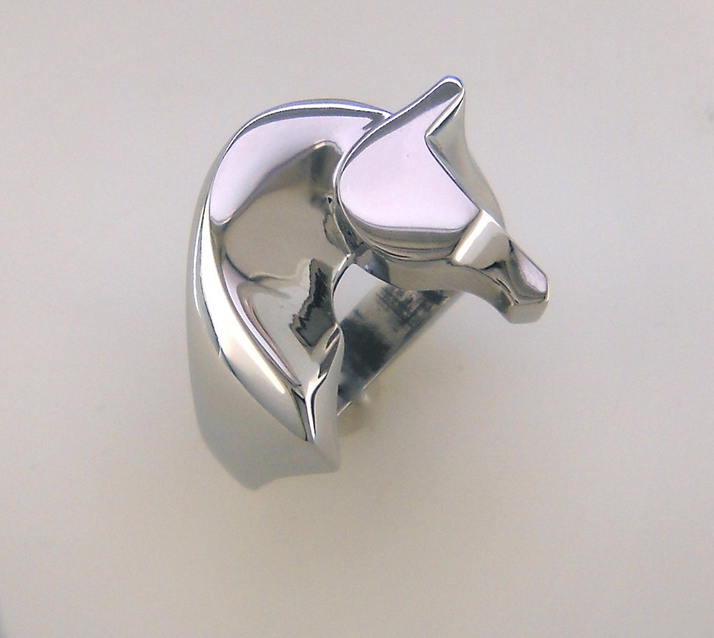 The Classic© Horse Ring in Stainless Steel