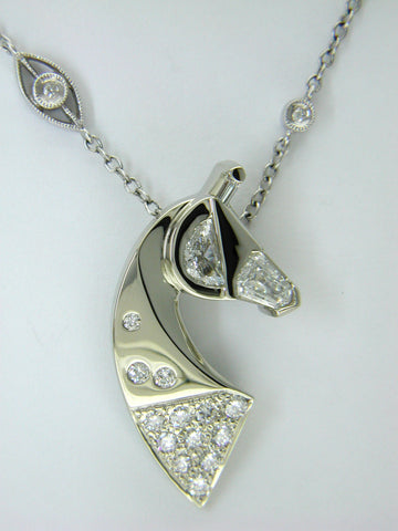 The Classic© One-of-aKind Diamond Couture Pendant